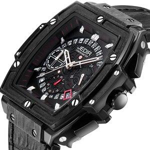 Image 5 - Relogio Masculino męskie zegarki Top luksusowa marka biznes zegarek hublot JEDIR Casual wodoodporny męski zegarek chronograf zegar