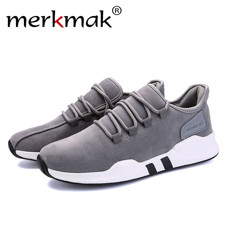 Merkmak Brand Spring Autumn Canvas Leisure Men Shoes for Outdoor Fashion Comfortable Breathable Sneaker Man Flats Footwear Shoes merkmak spring autumn men shoes casual male genuine leather brand walking driving high quality comfortable footwear man flats