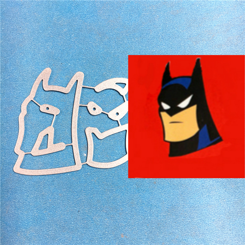 1PCS Batman cutting die 1PCS carft Tag Stencil For DIY Scrapbook Paper Card Decorative Craft Embossing Die Cut in Cutting Dies from Home Garden
