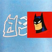 1PCS Batman cutting die+1PCS carft Tag Stencil For DIY Scrapbook Paper Card Decorative Craft Embossing Die Cut