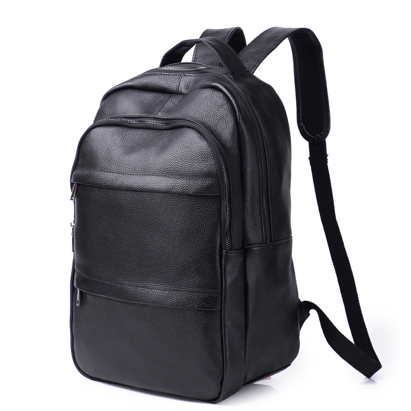Genuine Leather Cow Skin Leisure Large Backpacks Anti-theft 14 inch Laptop Backpack with USB Port High Quality Travel Carry Bags