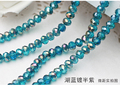 5040 AAA  Aquamarine half purple plated Color Loose Crystal Glass Rondelle beads.2mm 3mm 4mm,6mm,8mm 10mm,12mm Free Shipping!
