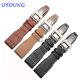 Quality Genuine Leather Watch bands 22mm Pilot Style Folding Buckle Leather Strap For IW326501