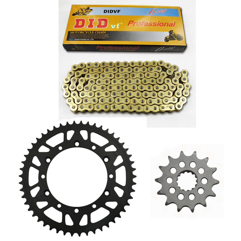 New packing MOTORCYCLE 520 CHAIN Front & Rear SPROCKET Kit Set FOR KAWASAKI  KX250 L1-L3,L4,M1-M3,R1,R6F,R7F,R8F 1 set motorcycle front