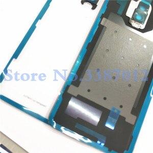 Image 4 - % 100% orijinal malzeme cam arka konut kapı için oneplus 6T oneplus 6T arka pil kapağı durumda + kamera Lens yedek parçalar