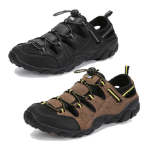 חוף סנדלי קיץ נעלי גברים חיצוני נעלי גבר לנשימה רשת ספורט נעלי אנטי החלקה נהר ים פרדות Tenis Masculino