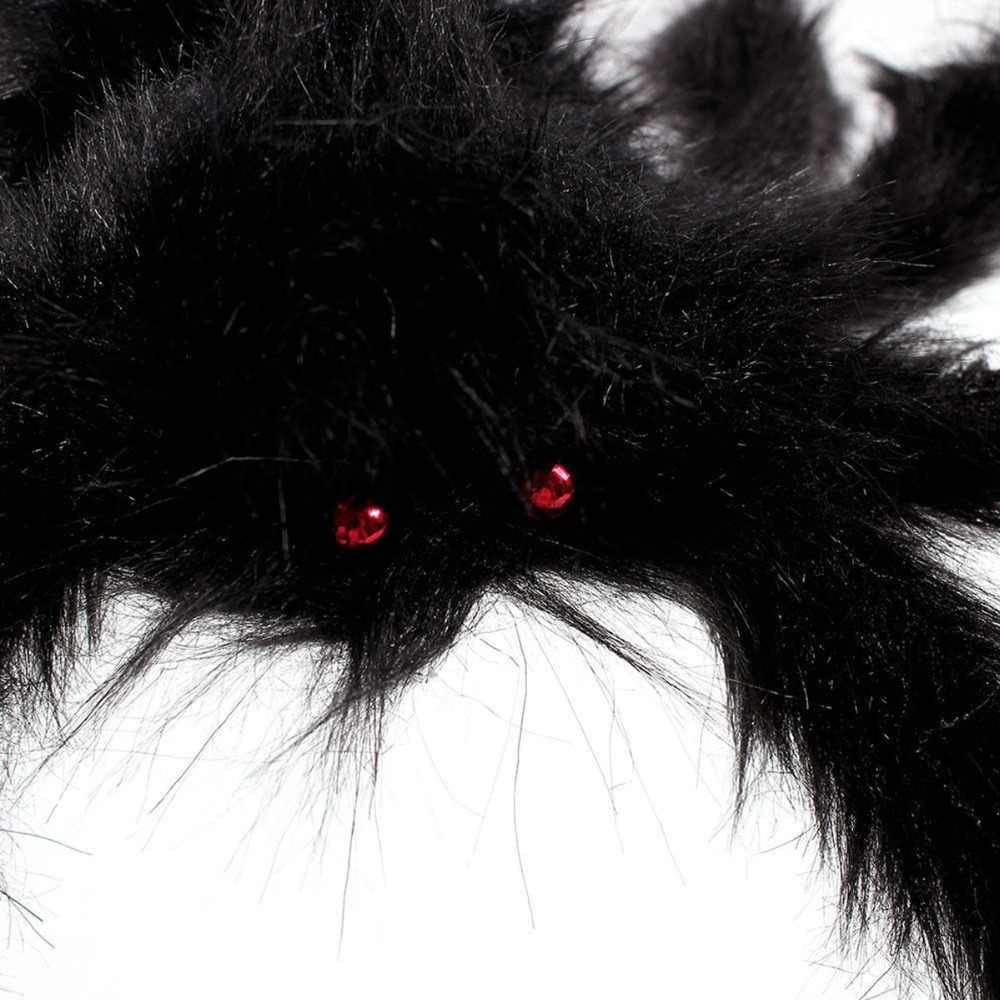 Super grande peluche spider fatto di filo e di peluche nero e multicolore di stile per il partito o decorazioni di halloween 1Pcs 30 centimetri, 50 centimetri, 75 centimetri