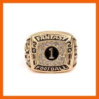 High Quality 2011 Fantasy Football Championship Ring Solid Souvenir Sport Rings