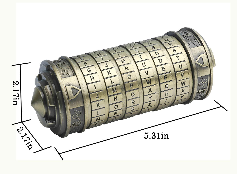 Leonardo Da Vinci Code cylindre Puzzle serrure alliage Zinc Cryptex saint valentin romantique anniversaire cadeaux évasion chambre accessoires - 6