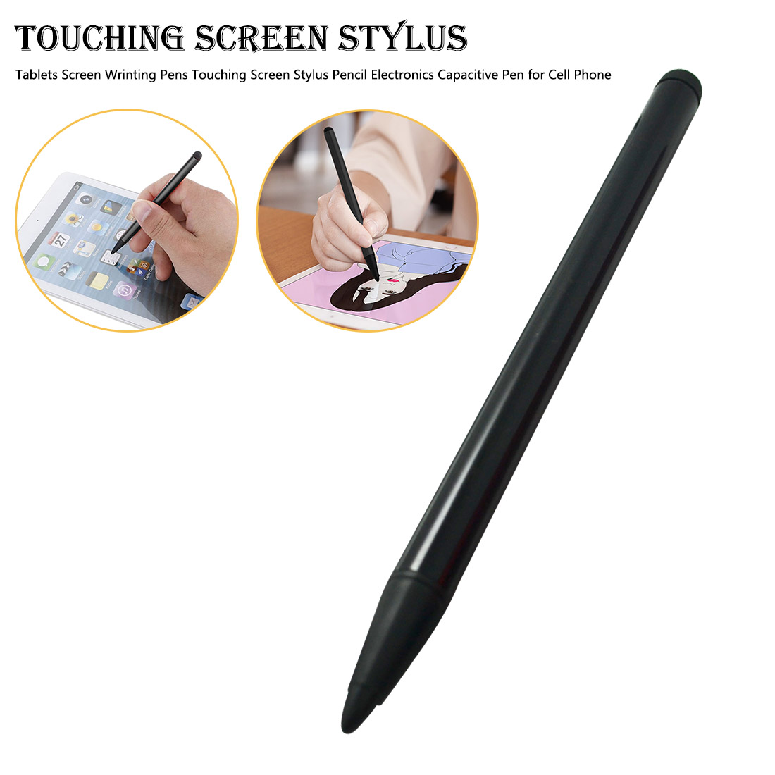Tablets Screen Writing Pen Support Capacitance Screen & Resistance Screen Stylus Pen for Smartphone Tablet Games Console