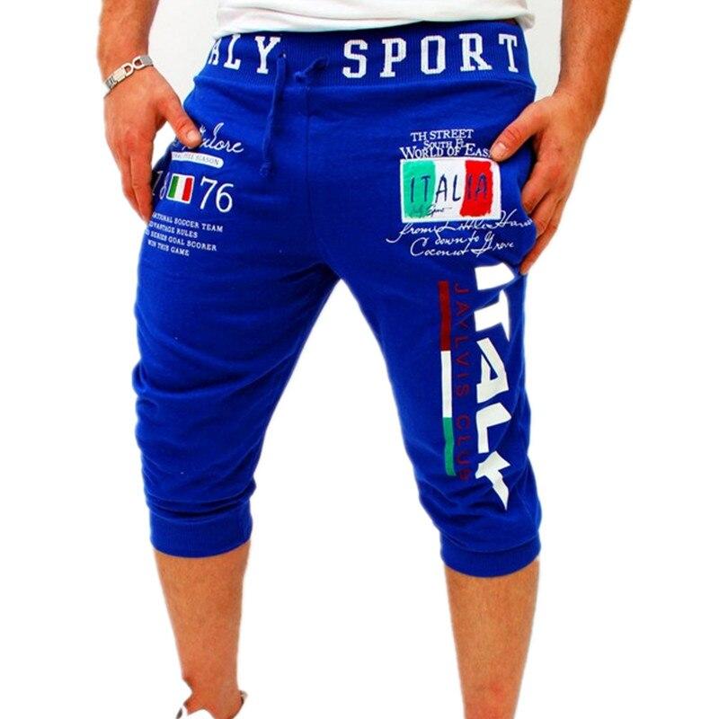 Italia Designer Shorts Men Summer Trousers Elastic Brand Fitness Harem Shorts Hip Hop Casual Jogger Shorts