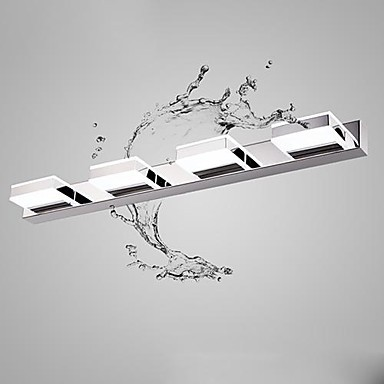 Modern Simple Artistic Led Mirror Bathroom Light ,LED Wall Lamp With 4 Lights Wall Sconces  Free Shipping cream white iron modern led wall lamp lights with 1 light wall sconces free shipping