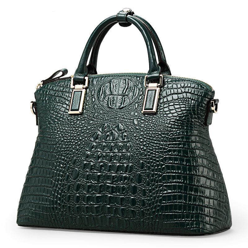 Women Handbag Authentic Women Crocodile Bag 100% Genuine Leather Hot Selling Tote Women Bag Large Brand Bags Luxury qiwang authentic women crocodile bag 100% genuine leather women handbag hot selling tote women bag large brand bags luxury