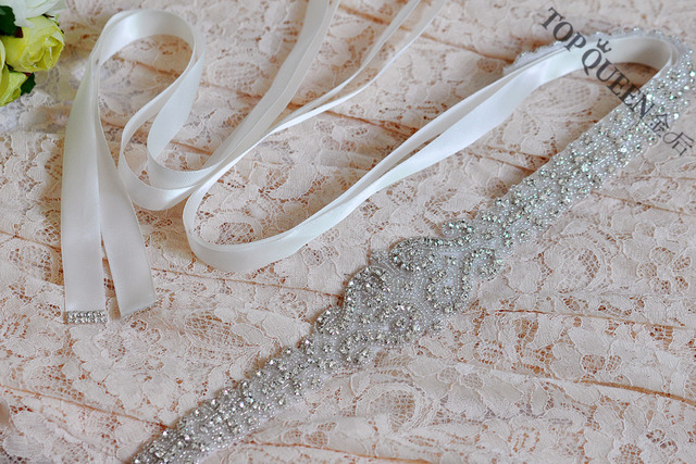 Women's Fashion Luxurious Crystal Rhinestone Wedding Bride Bridesmaid Sash Belt S175 For the Evening Party Wedding Bridal Dress