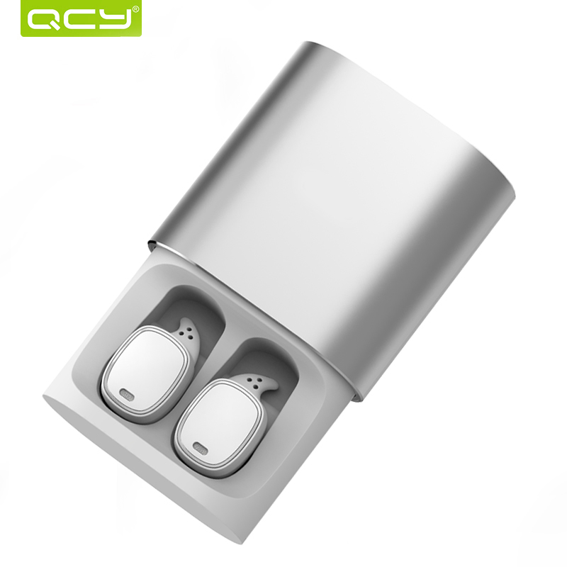 QCY T1 Pro Touch Control Bluetooth Auricolari TWS Mini Auricolare Wireless con Microfono Vivavoce Musica Auricolari e 750 mAh ricarica box