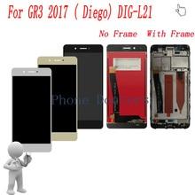 5.0 cal pełna wyświetlacz LCD + ekran dotykowy Digitizer montaż + osłona ramy dla Huawei GR3 2017 (Diego) DIG L21