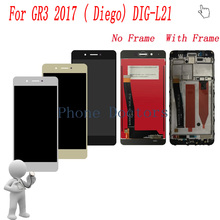 5.0 inch Full LCD DIsplay + Màn Hình Cảm Ứng Digitizer Hội + Khung Bìa Đối Với Huawei GR3 2017 (Diego) DIG L21