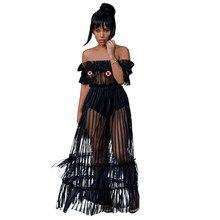 Kasimur women maxi long mesh dress 2018 summer ruffle slash neck off  shoulder robe ladies dresses runway Fashion vestido largo af6d3b95d371