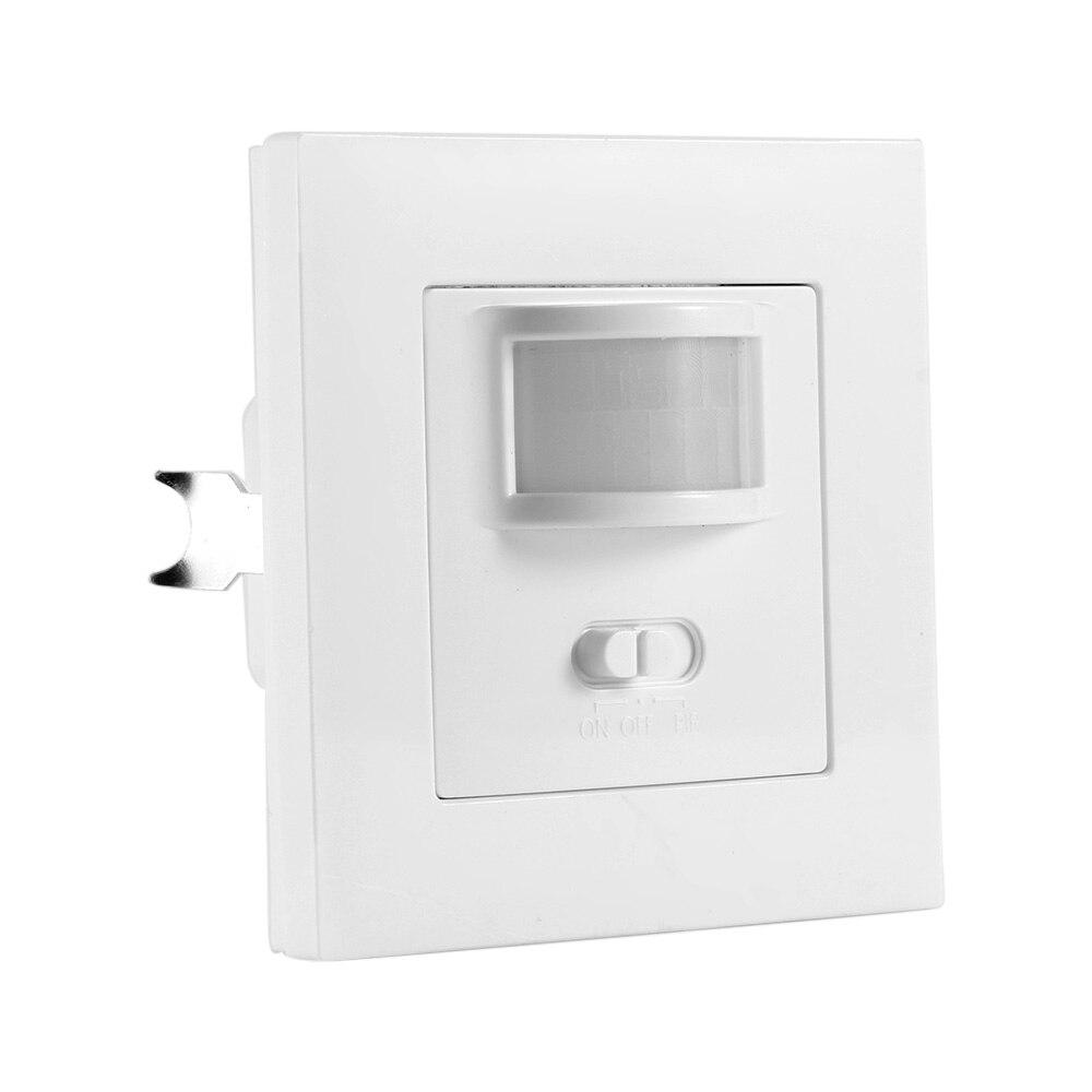 Detector de indução com sensor de movimento, controle de luz de segurança, detector de indução de movimento infravermelho ir com comutador ac110v-220v, ligar/desligar/pir