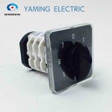 Draaischakelaar knop 8 positie 0 7 YMZ12 32/4 universele handleiding elektrische omschakeling cam switch 32A 690V 4 sectie hoge kwaliteit
