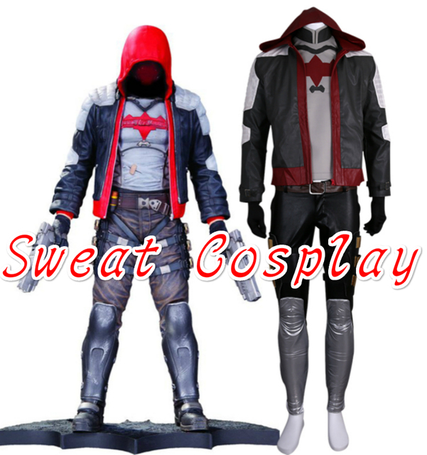 High Quality Batman Arkham Knight Red Hood Jason Todd Halloween