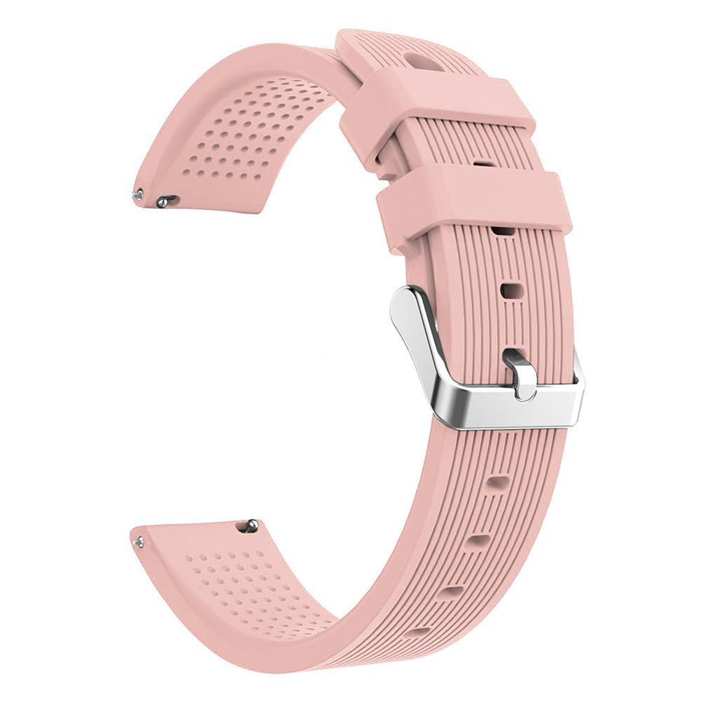 Image 4 - Silicone Watchband Active 20mm Silicone Strap Straight striped Silicone Watchband For Samsung Galaxy Watch-in Smart Accessories from Consumer Electronics