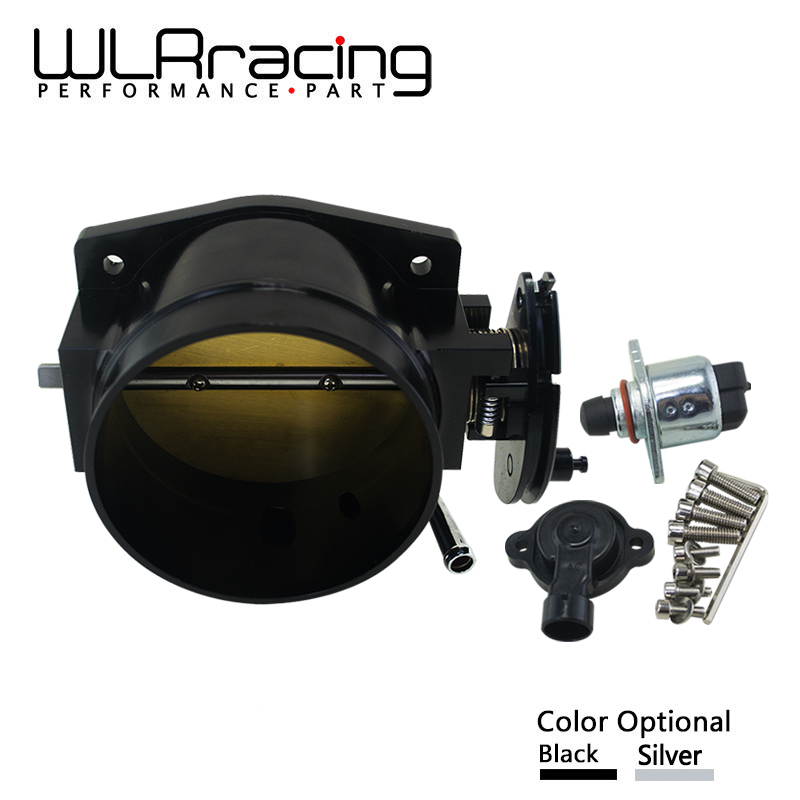 WLR RACING - 102mm throttle body + TPS IAC Throttle Position Sensor for LSX LS LS1 LS2 LS7 SILVER BLACK WLR6938+5961 wlr racing 102mm throttle body drive by wire for chevrolet ls1 ls2 ls3 ls7 lsx lsxr intake manifold ls engine wlr ttb99