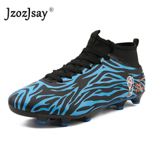 2018 New High-top Soccer Shoes Men and Women Long Spike Anti