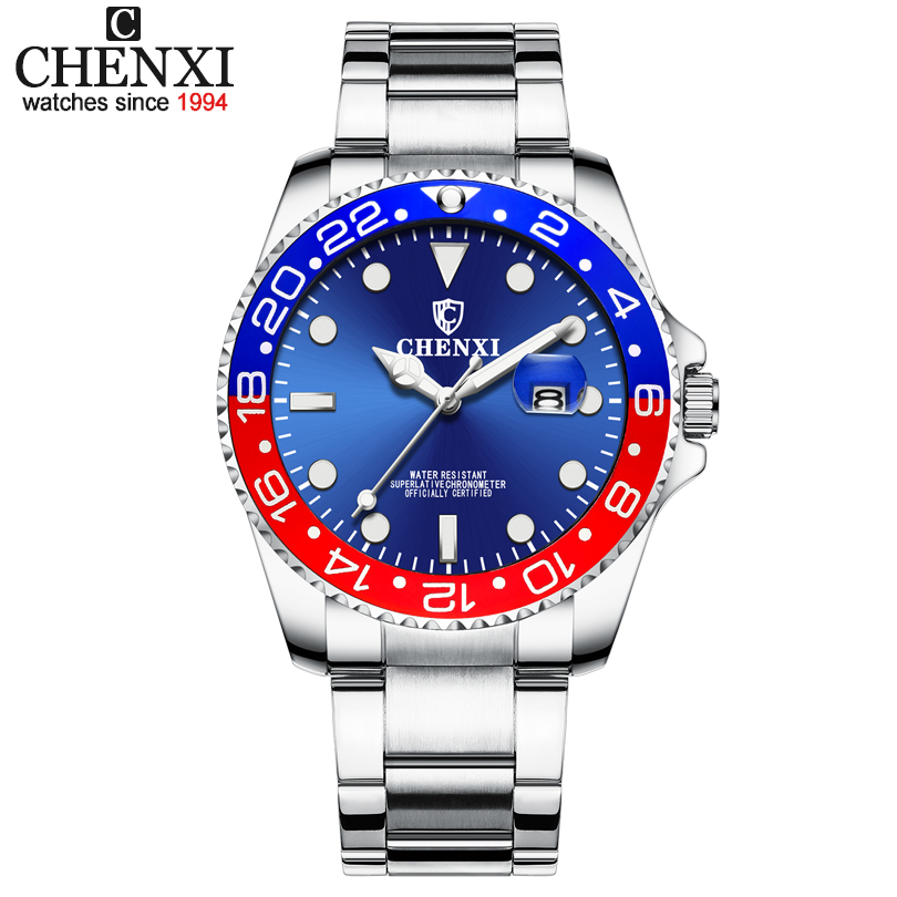 CHENXI Luxury Brand Men Business Sport Watches Men's Quartz Clock Full Steel Waterproof Wrist Watch relogio masculino Watch Man chenxi men quartz wristwatches luxury brand man golden business fashion watch mens shell dial clock dress relogio masculino