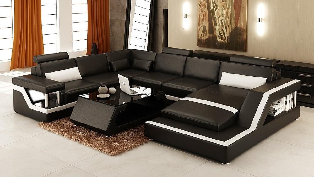 Corner Sofa Bed Modern Sofa Set Living Room Furniture Leather