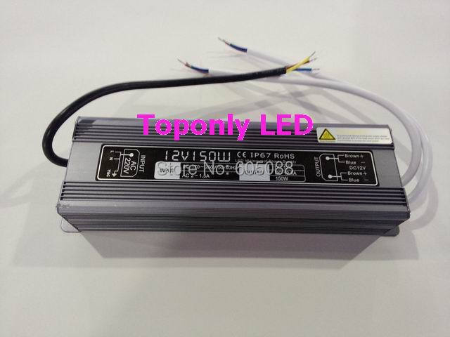 DC12v 150w transformer led ip67 waterproof led power supply aluminum shell led driver CE&ROHS AC110v 220v input 2016 hot selling  free shipping 5pcs lot 150w hot selling ac90 250v to dc12v or dc24v transformer ip67 waterproof led driver power supply