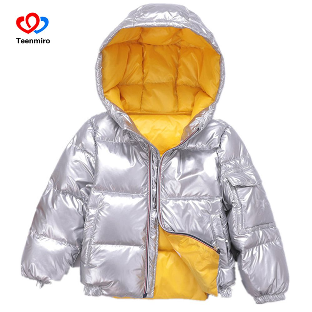 Children Winter Jacket for Kids Girl Silver Boys Hooded Coat Baby Clothing Outwear Kid Parka Jackets Snow Wear Meisjes Winterjas маска barex maschera velluto olio di argan e di olivello spinoso