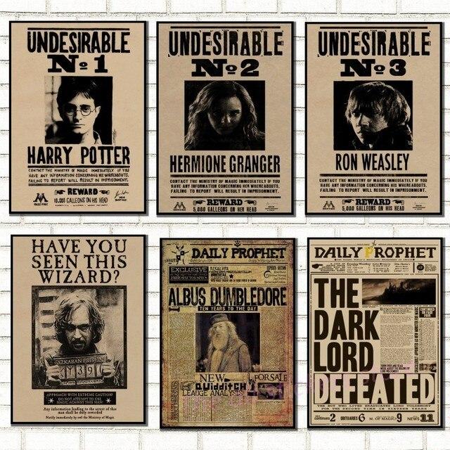 Harry Potter voulait commander indésirable n ° 1 Vintage rétro Kraft Poster affiches. affiches prophète quotidien/affiche noire Sirius/5033