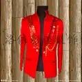 Uomo costumi maestro sequel del maestro del vestito giacca night show DS costume di scena cantante costumi abbigliamento