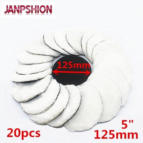 JANPSHION 20pc 125mm Car Polishing Pad 5
