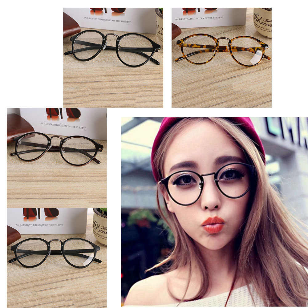 61bc63c93f Hot Sale ! Unisex Fashion Trendy Vintage Retro Frame Clear Round Lens Nerd  Geek Glasses Eyeglass