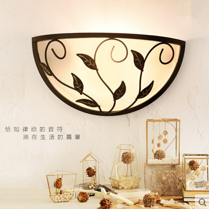 American Country Simple LED Wall Lamp Decorative Glass Lampshade Wall Light Fixtures For Balcony Bedside Light Home Lighting цена