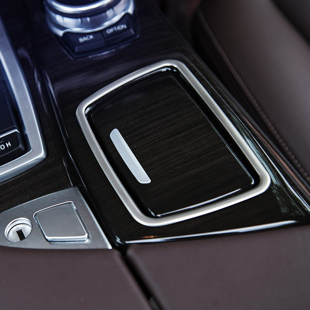 9f6b765fdba2 Center Console Ashtray Frame Decoration Cover Trim For BMW F10 5 Series 2011-17  Stainless Steel Car styling
