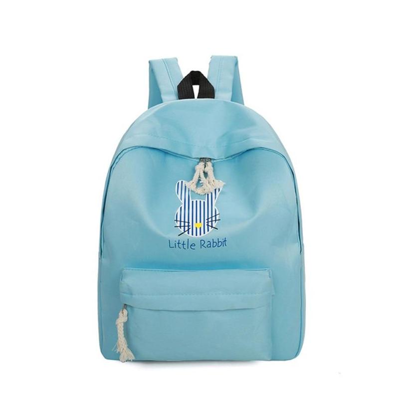 Retro Women Backpack For School Teenagers Girls Bags Rabbit Cute back pack Canvas Printing Backpacks Travel mochila feminina