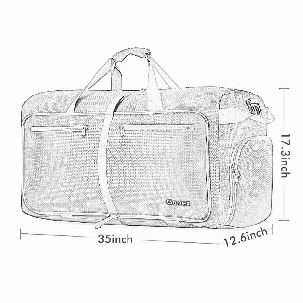 8d806d9ba568 ... Gonex 150L классический большой Мужская вещевой мешок путешествия  багажные сумки чемодан Packable Сумочка для спортзала выходные