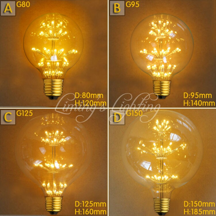 Vintage E27/E26 220V/240V Spiral Incandescent Light Novelty Fixture Glass COB LED Edison light Bulb lighting tubes Filament Bulb