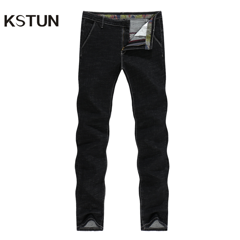 Black Jeans Men Autumn And Winter Stretch Traditional Straight Leg Long Trousers Business Casual Gentleman Male Denim Pants Jean