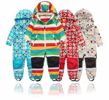 Весенне-осенний детский комбинезон, куртка, весенне-осенний комбинезон для мальчиков и девочек, ветрозащитный и водонепроницаемый, 4 стиля