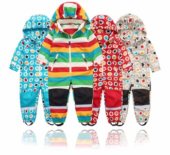 Spring and autumn outdoor childrens jumpsuit jacket, boy girl spring windproof waterproof,4 styles