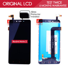 100 Tested original Brand TFT 1280x720 For XiaoMi Redmi Note 2 LCD Display with Touch Screen
