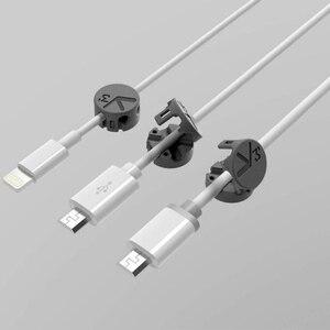 Image 3 - Intera vendita Youpin Tup2 USB di Archiviazione Cavo Wired Organizzatore di Assorbimento Magnetico Della Clip Del Supporto home Office Scrivania Organizzatore del Cavo