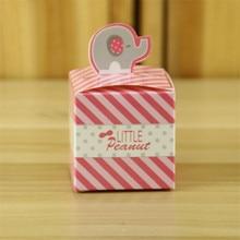 50 unids/lote elefante lindo de la historieta forma rosa punto raya letras galletas dulces cuadro titular Papercoard Gadget amigos del banquete de boda