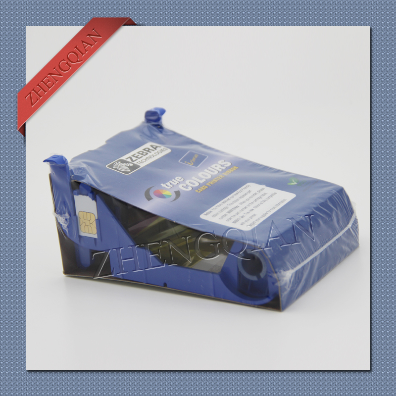ФОТО Zebra 800017-201 black id card printer ribbon for use zebra p110i pvc card printer Update to 800033-301