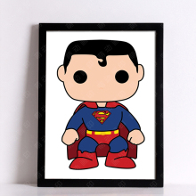 Superhero Cartoon Posters (3 Designs, 6 Sizes)