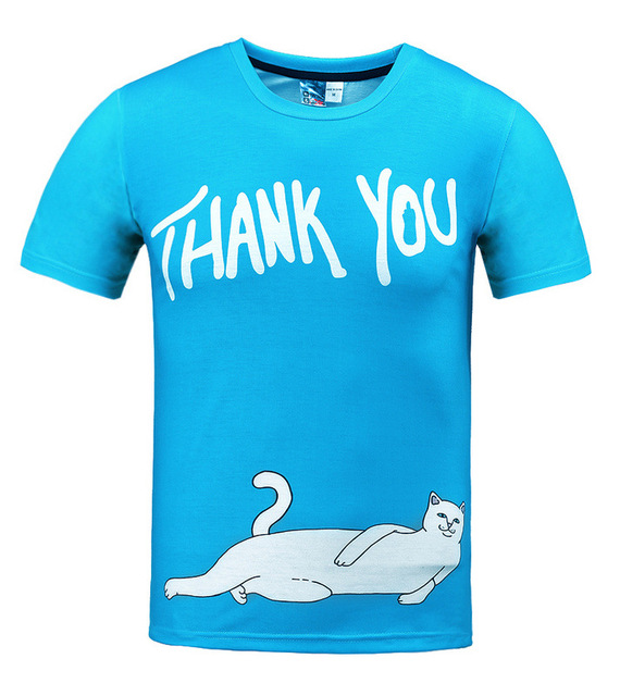 Cuhk child cartoon white cat printed 3D t-shirt for boys and girls summer  style teens t shirt big Children s casual tops 430595db7979